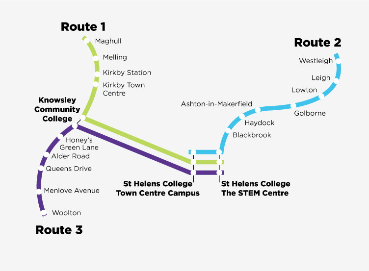 Map of Bus Routes