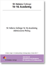 14-16Academy Admissions Policy
