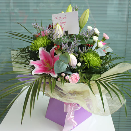 Mixed Boxed Hand Tied Bouquet