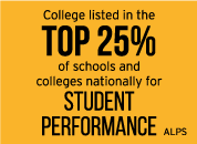 College listed in the top 25% of schools and colleges nationally for student performance, 100% overall pass rate in Construction, Engineering and Hospitality industry sector pathways - ALPS
