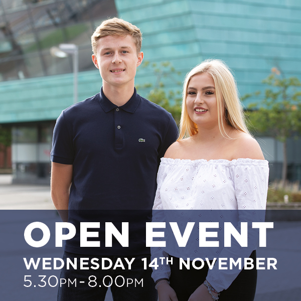 School Leaver Open Event Wednesday 14th November 2018