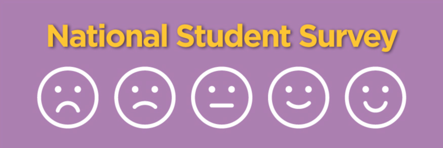 Header image displaying the words 'National Student Survey' and icons of a happy, sad and neautral face
