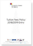 Tuition Fees Policy 2018 2019 Entry