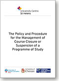 Course Closure Policy and Procedure Thumb