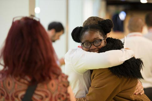 One of our students celebrating her results