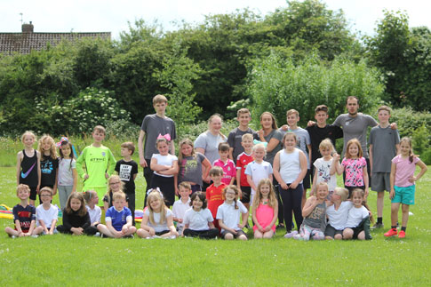 Picture of our students, with Y3 students from St Aidens
