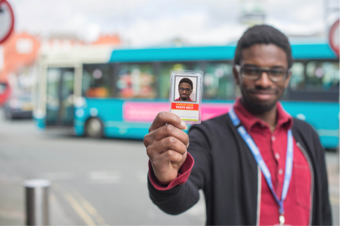 Picture of student with bus pass