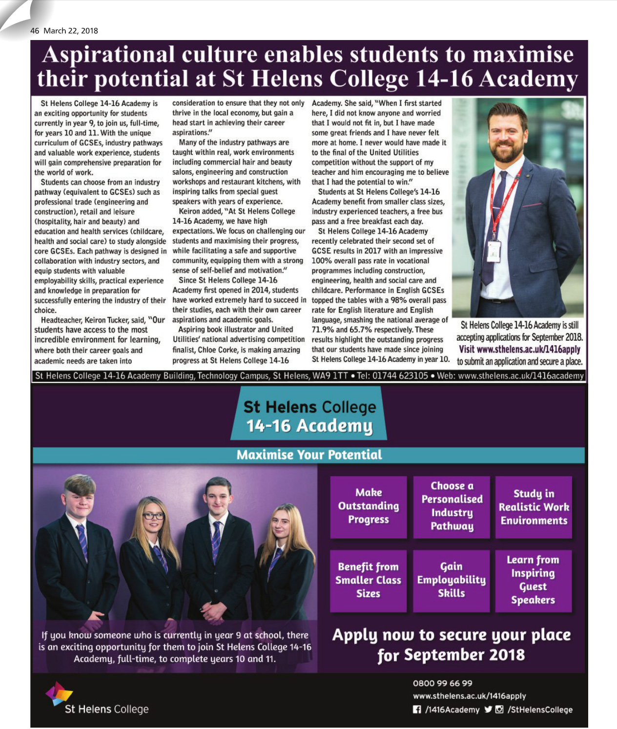 St Helens Star Articel from 22nd March 2018