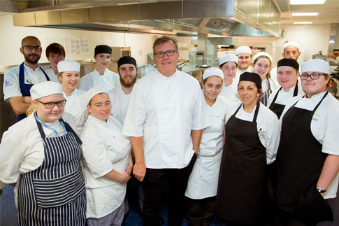 TV Chef Nigel Haworth with our students